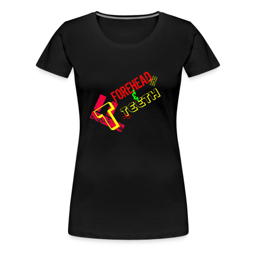 forehead and teeth full design - Women's Premium T-Shirt