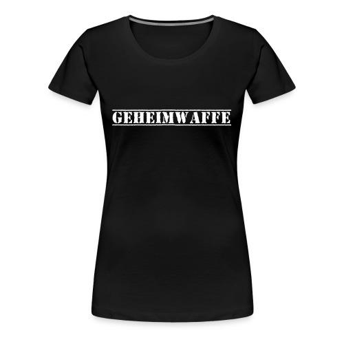Geheimwaffe weiss - Frauen Premium T-Shirt
