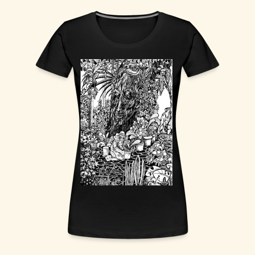 Old tree in the garden - Naisten premium t-paita