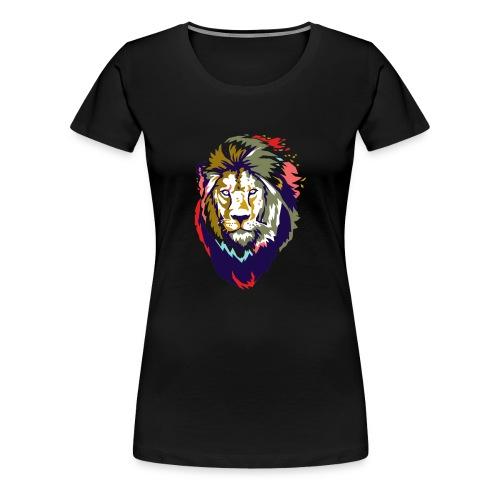 Farbiger Löwe - Frauen Premium T-Shirt