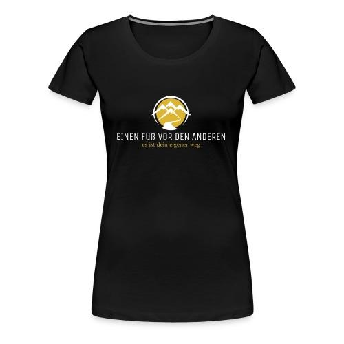 Einen Fuß vor den anderen LOGO weiß - Frauen Premium T-Shirt