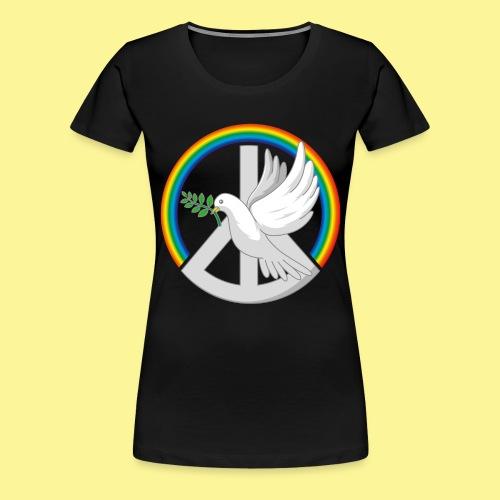 Rainbow Dove - Frauen Premium T-Shirt
