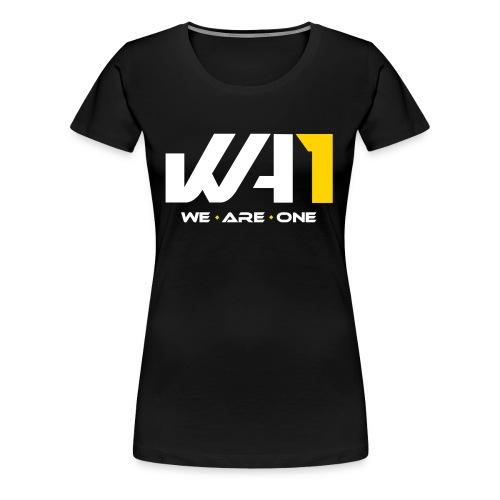Wir sind ein Logo (weiße Schrift) - Frauen Premium T-Shirt