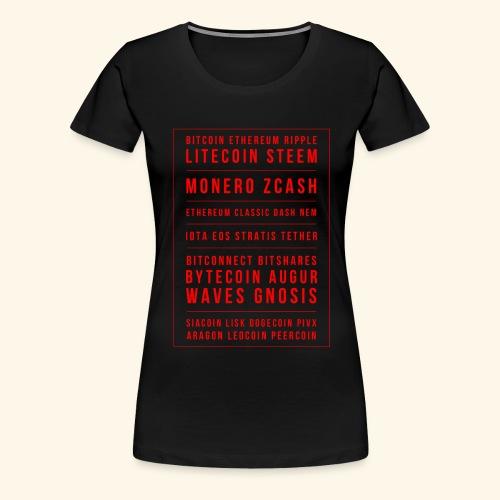 BITCOIN MONERO ZCASH - Women's Premium T-Shirt