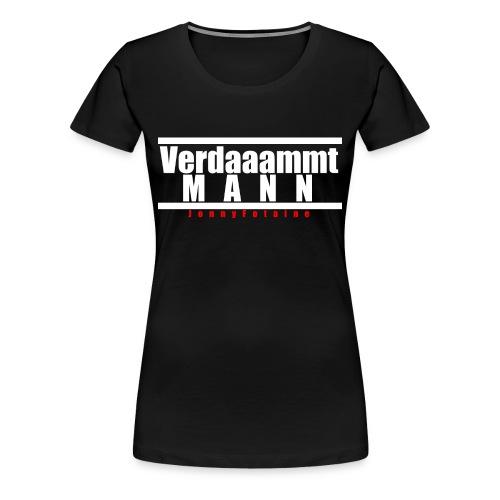 VERDAMMTMANN weiße schrift und in rot JonnyFotaine - Frauen Premium T-Shirt