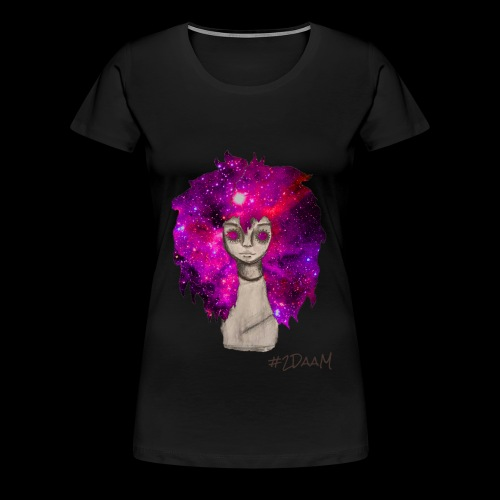 Universe Girl [BLK Edition] - Vrouwen Premium T-shirt