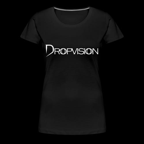 Dropvision Logo Vit - Premium-T-shirt dam