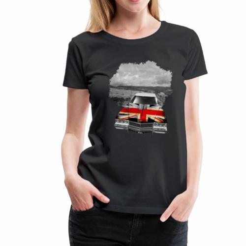 Oldtimer with British flagg. - Frauen Premium T-Shirt