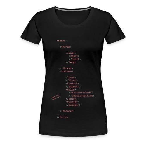 HTML Oberkörper - Frauen Premium T-Shirt