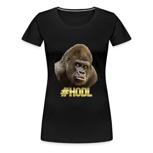 Gorilla #HODL Gold - Frauen Premium T-Shirt