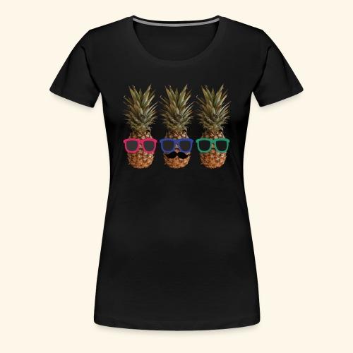Hipster Ananas mit Sonnenbrillen und Bart - Women's Premium T-Shirt