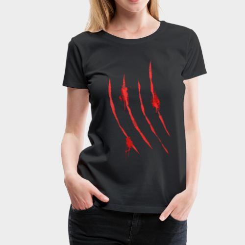 Blutige Krallen Kratzer von Monster Klaue 3 - Frauen Premium T-Shirt
