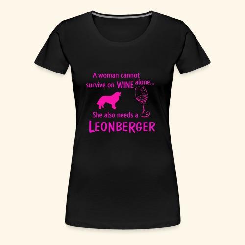 Wine&Leonberger - Premium-T-shirt dam