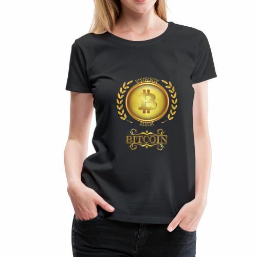 Bitcoin Krone Klein - Frauen Premium T-Shirt