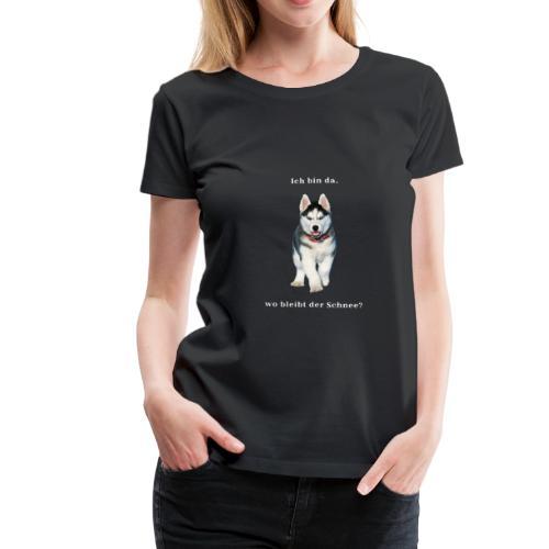Husky Welpen mit bezaubernden Augen - Frauen Premium T-Shirt