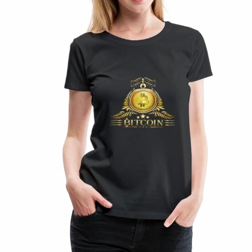 Bitcoin Krone - Frauen Premium T-Shirt