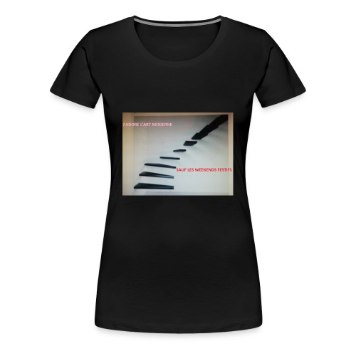 escalier MODERNES les JOURS de FETES - T-shirt Premium Femme