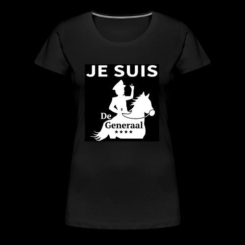 JE SUIS De Generaal (wit op zwart) - Vrouwen Premium T-shirt