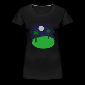 Paysage Hexagonal - T-shirt Premium Femme