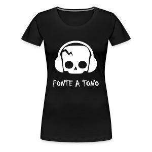 Logo Blanco - Camiseta premium mujer