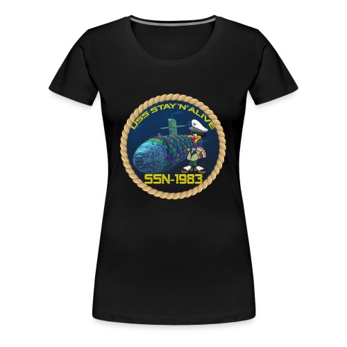 Command Badge SSN-1983 - Women's Premium T-Shirt