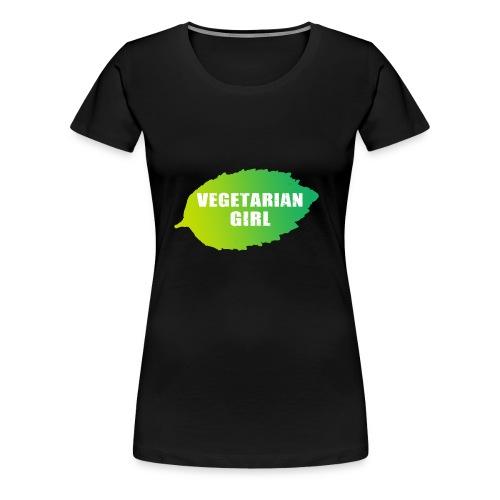 vegetarian girl - Naisten premium t-paita