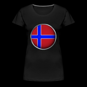 Norwegen Flagge 3D - Frauen Premium T-Shirt