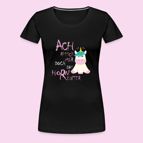 Genervtes Einhorn - Frauen Premium T-Shirt