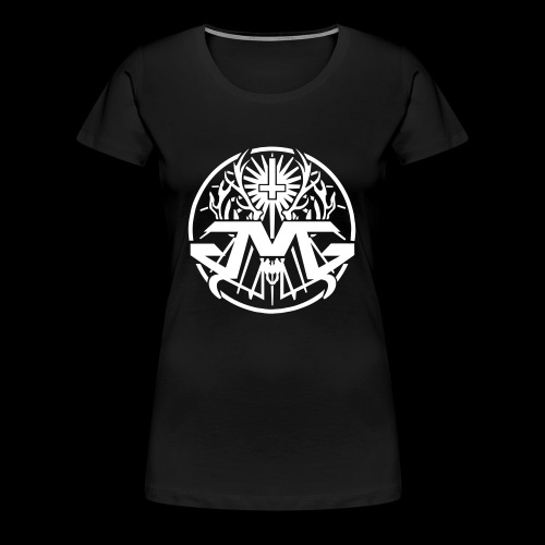 JMG Circle Logo white - Frauen Premium T-Shirt