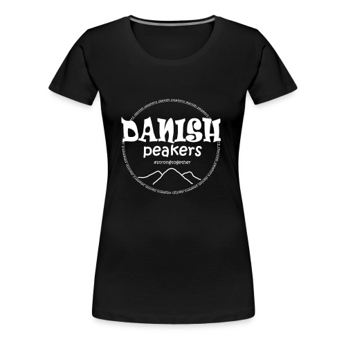 hvidt tryk foran - Dame premium T-shirt