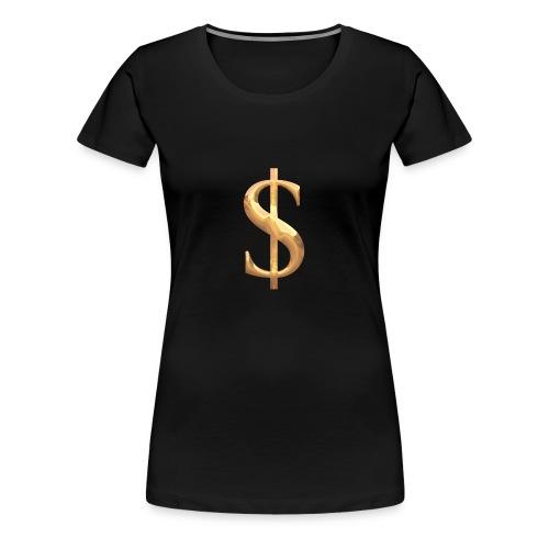 Dollar - Frauen Premium T-Shirt