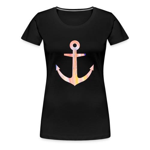 Schlichtes buntes Anker Desgin/Symbol - Frauen Premium T-Shirt