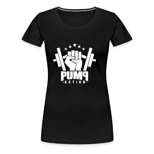 PUMP-ACTION LOGO WHITE - Frauen Premium T-Shirt