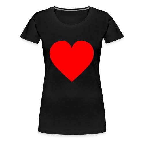 Herz Rot - Frauen Premium T-Shirt