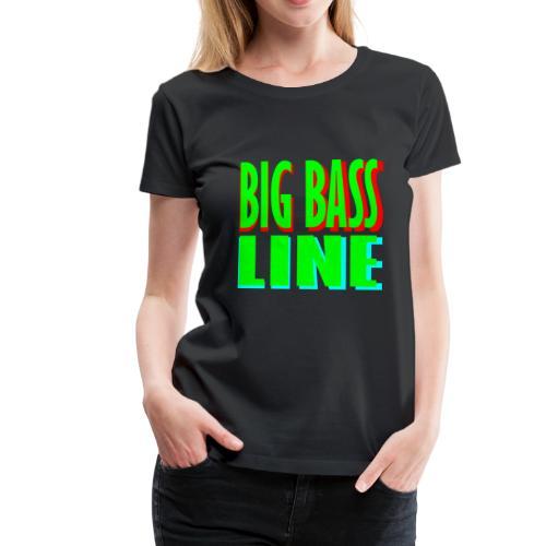 big bass line line - Women's Premium T-Shirt