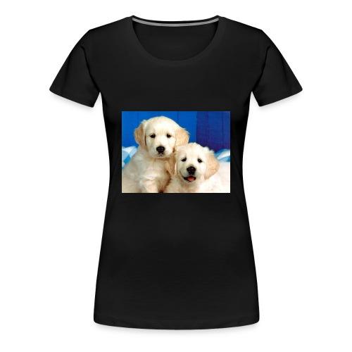 Golden labs pups - Women's Premium T-Shirt