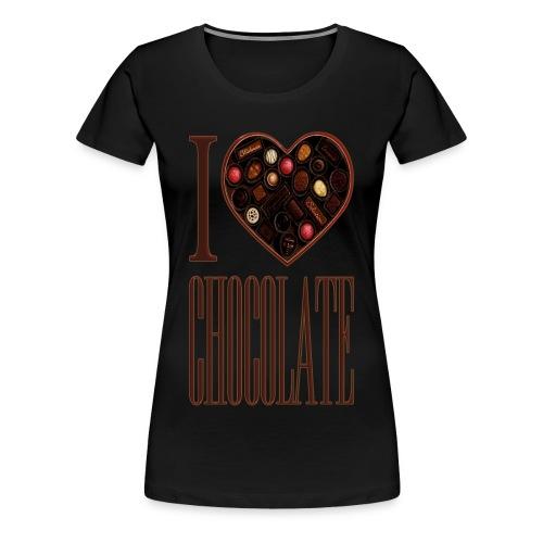 I Love Chocolate - Women's Premium T-Shirt