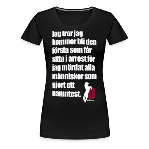 HorseBook line - Premium-T-shirt dam
