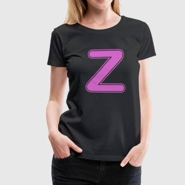 Alphabet - Buchstabe - Z - Frauen Premium T-Shirt
