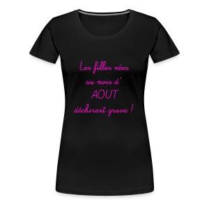 aout - T-shirt Premium Femme