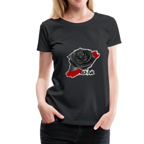 RED EVIL ROSE IN BLOOD - T-shirt Premium Femme
