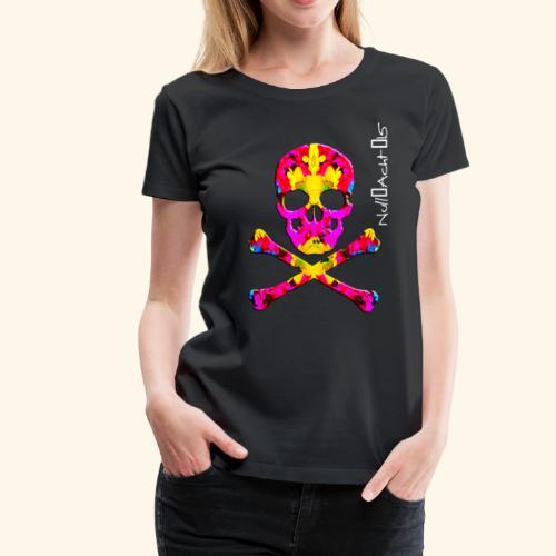 skull with white type - Frauen Premium T-Shirt