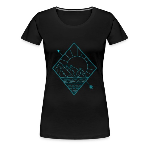 Alaska blue - Frauen Premium T-Shirt