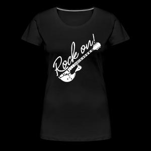 Rock On mit Gitarre - Frauen Premium T-Shirt