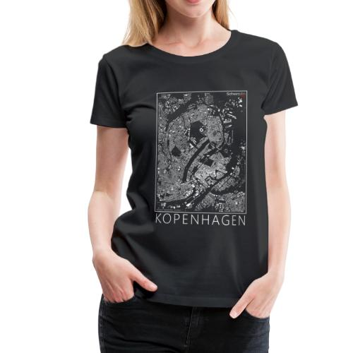 Schwarzplan Kopenhagen Figureground Diagram - Frauen Premium T-Shirt