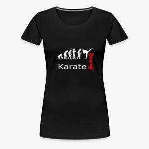 Karate weiß - Frauen Premium T-Shirt