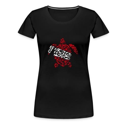 Sea Turtle Flag Diver - Camiseta premium mujer