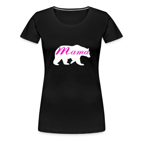 Hip Mother's Mama Bear and Bear Cub Vintage Shirt - Frauen Premium T-Shirt