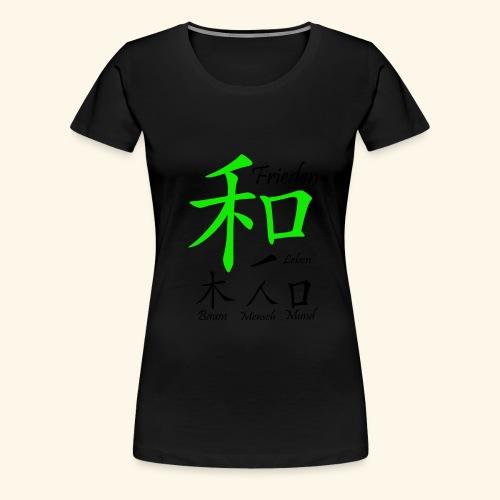 Frieden unterm Kreuz Leben - Frauen Premium T-Shirt