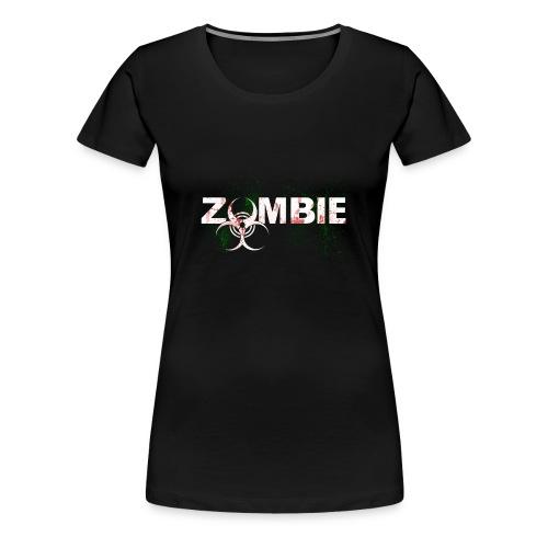 Zombie mit BioHazard Symbol Weiße Schrift - Frauen Premium T-Shirt